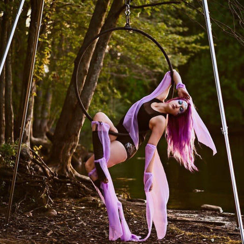 Uplift Active Aerial Hoop Photo by @boldandgradiant