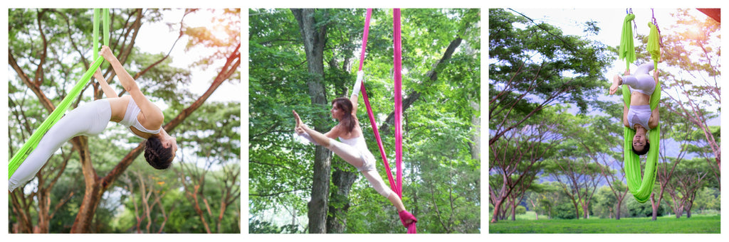 aerial silks and hammock