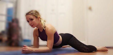 Girl doing a Frog Pose