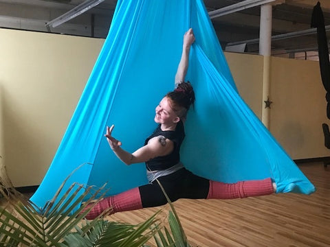 Lady in Blue Yoga Hammock