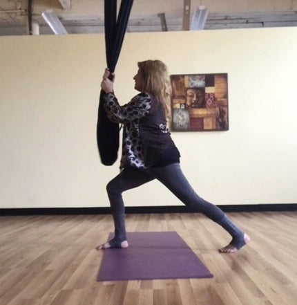 Bonni-Lynne Aerial Yoga in Black Yoga Hammock