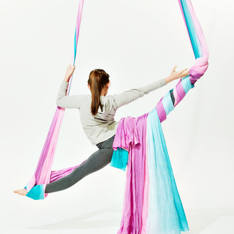 Uplift Active Blue & Pink Ombre Aerial Silks by Lani the Carni