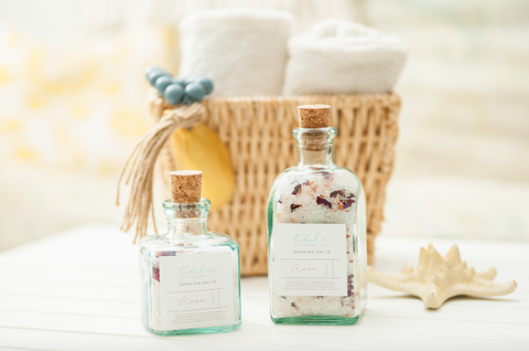 Tidal Living Bath Salts in Recycled Glass