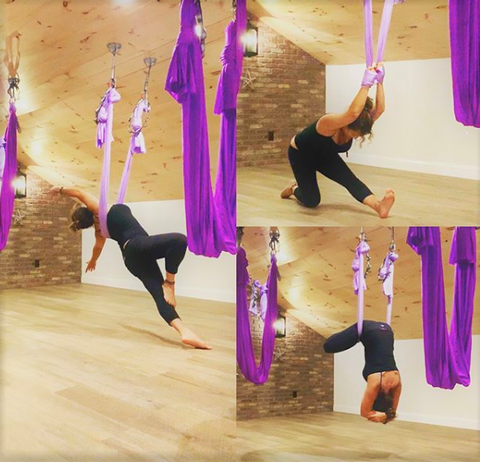 Lift Studio Set Up Purple Yoga Hammock