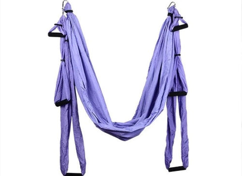 Purple Yoga Swing with Handles