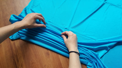 Blue Nylon Tricot Yoga Hammock Fabric -Uplift Active