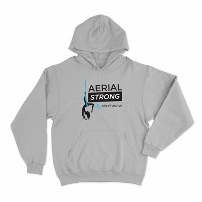 Sport Grey Aerial Strong Aerial Yoga Hoodie Pullover - Uplift Active Aerial Silks
