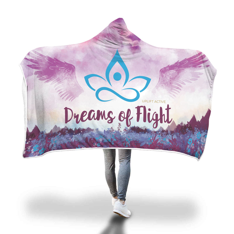 Violet Dreams of Flight Sherpa Hoodie Blanket - Uplift Active