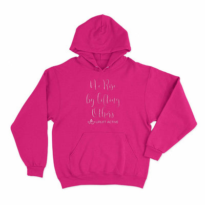 Fuschia We Rise By Lifting Others Print Aerial Silks Hoodie - Uplift Active