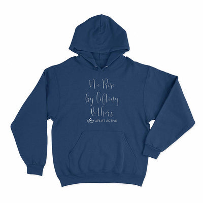 Navy Blue We Rise By Lifting Others Print Aerial Silks Hoodie - Uplift Active