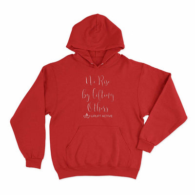 Red We Rise By Lifting Others Print Aerial Silks Hoodie - Uplift Active