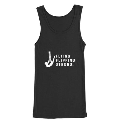 Flying Flipping Strong Print in White Aerial Silks Tank Top - Uplift Active