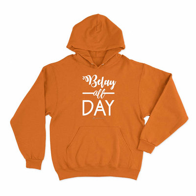 Orange Belay All Day Print in White Aerial Silks Hoodie - Uplift Active