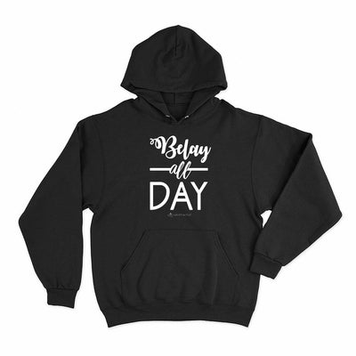 Belay All Day Print in White Aerial Silks Hoodie - Uplift Active