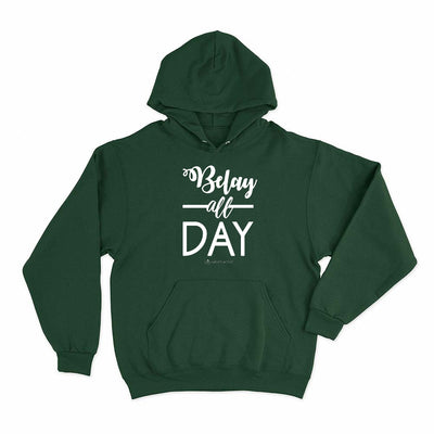 Forest Green Belay All Day Print in White Aerial Silks Hoodie - Uplift Active