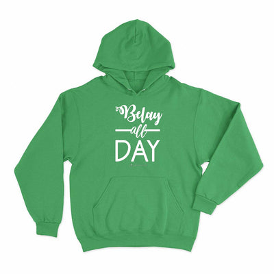 Irish Green Belay All Day Print in White Aerial Silks Hoodie - Uplift Active