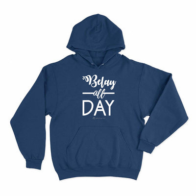 Navy Belay All Day Print in White Aerial Silks Hoodie - Uplift Active
