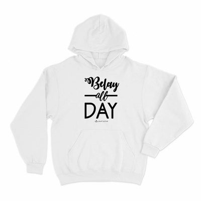 Belay All Day Print in Black Aerial Silks Hoodie - Uplift Active