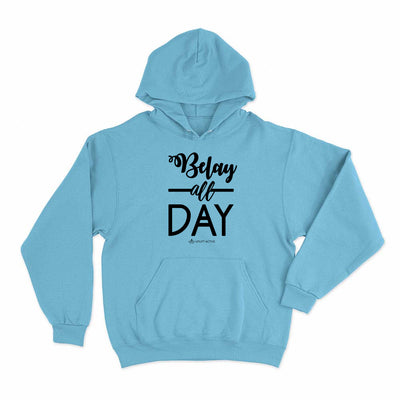 Light Blue Belay All Day Print in Black Aerial Silks Hoodie - Uplift Active