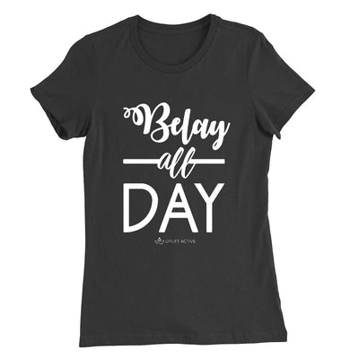 Belay All Day Print in White Aerial Silks Tee - Uplift Active
