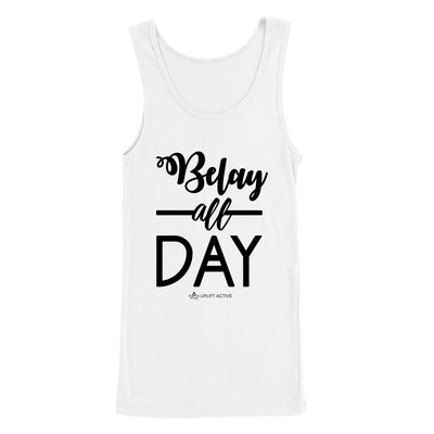 Belay All Day Print in Black Aerial Silks Tank Top - Uplift Active