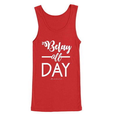 Red Belay All Day Print in White Aerial Silks Tank Top - Uplift Active