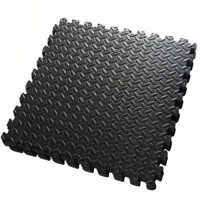 Black EVA Foam Floor Interlocking Mat - 48 Sq Ft Uplift Active