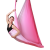 Elaine Eason on Pink Ombre Aerial Yoga Hammock Uplift Active Full View