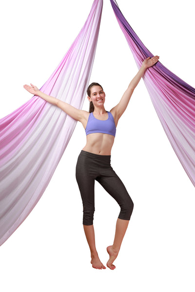 Purple Ombre Aerial Silks Set with All Hardware - Uplift Active