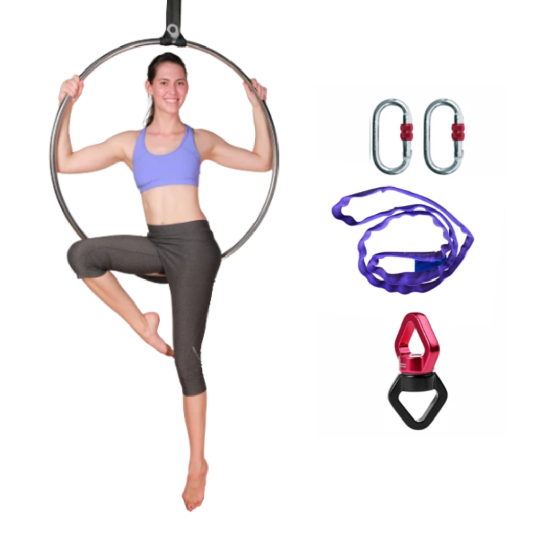 Aerial Hoop Lyra Set with Rigging Equipment