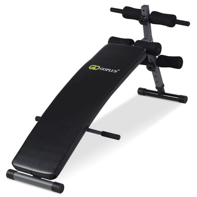Adjustable Arc-Shaped Decline Sit up Bench Uplift Active