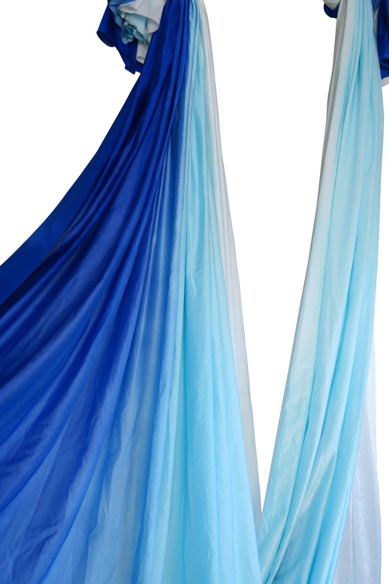 Blue Ombre Nylon Tricot Hammock Fabric Only (Imperfect Fabric - USA Shipping Only)