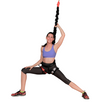 woman lunge on bungee fitness set by uplift active