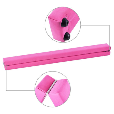 Pink Sectional Gymnastics Floor Balance Beam - 8 ft Detail - Uplift Active