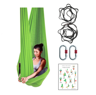 Wholesale Studio Pack of Green Yoga Hammocks + Rigging Equipment - Uplift Active