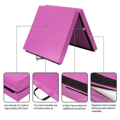 High Quality Gymnastic Fitness Exercise Thick Mat with Two Folding Panel - Uplift Active