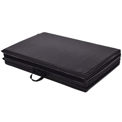 Black Folded Fitness and Gymnastics Mat - Uplift Active