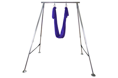 Blue Yoga Hammock Height Adjustable Portable Aerial Rig - Uplift Active