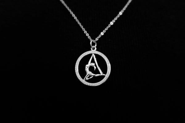 Aerial Yoga Sterling Silver Necklace