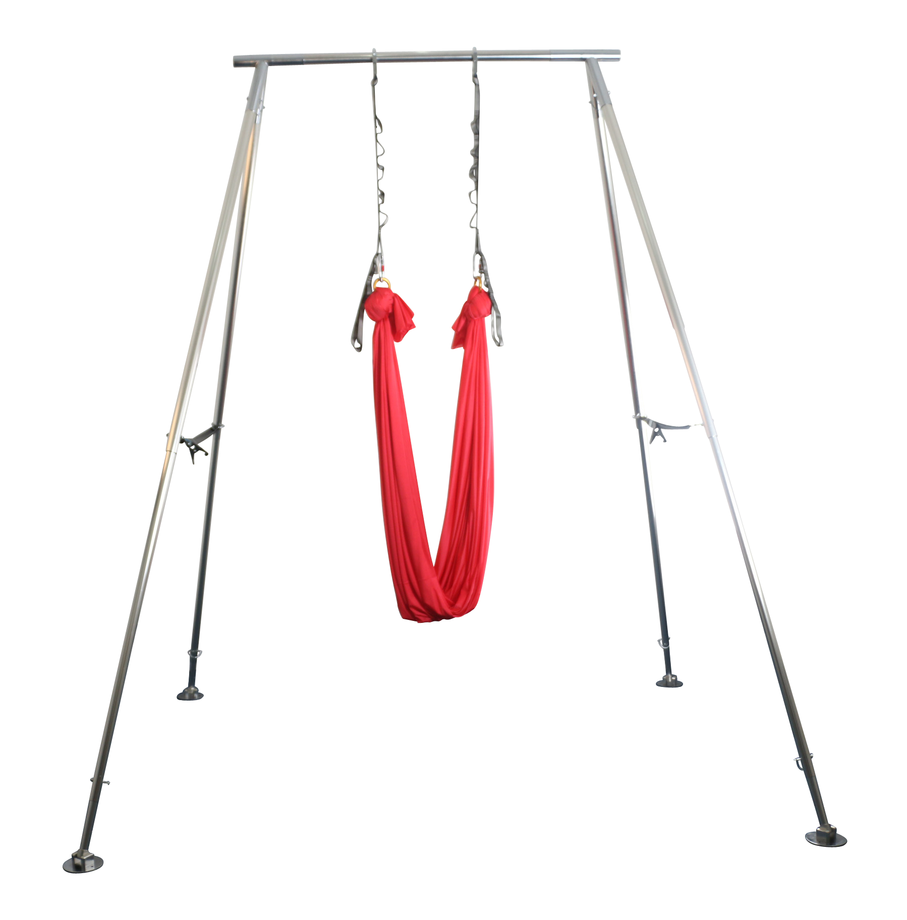Pink Hammock on Height Adjustable Portable Aerial Rig - Uplift Active