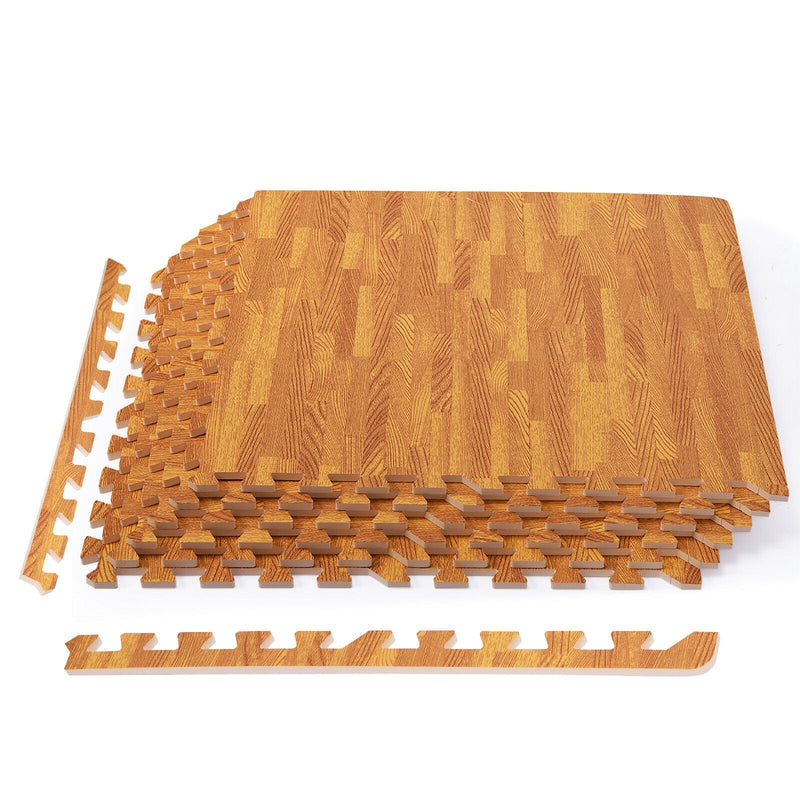 Wood Look EVA Foam Floor Interlocking Mat Show Floor Gym Mats