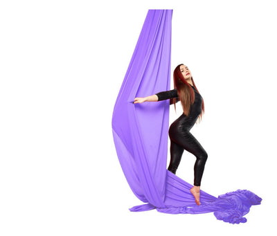 Purple Nylon Tricot Aerial Fabric - Aerial Yoga Gear - Uplift Active