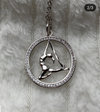 aerial yoga necklace