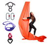 Orange Aerial Silks Set with Hardware Uplift Active