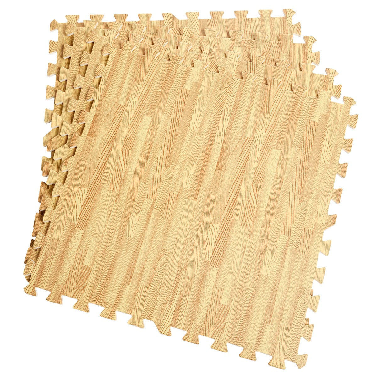 Wood Look EVA Foam Floor Interlocking Mat Show Floor Gym Mats - Uplift Active