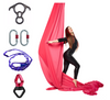 Red Aerial Silks Set with Hardware Uplift Active