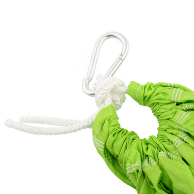 Green Yoga Swing with Handles Detials - Aerial Yoga Gear  - Uplift Active