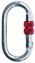 Multipurpose Silver Screw Lock O-Shape Carabiner - Uplift Active