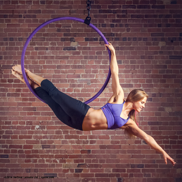 Girl on aerial hoop