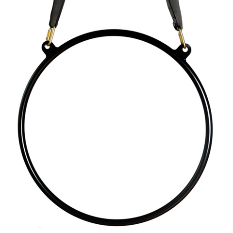 Black X-Pole Sport Hoop (34mm width) - Double Point Lyra - Aerial Yoga Gear